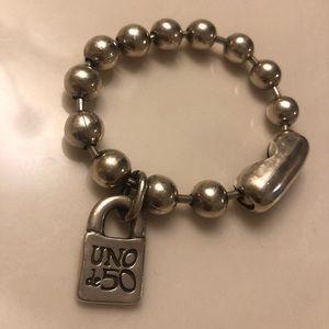 Uno De 50 snowflake bracelet